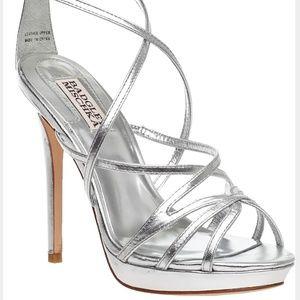 Badgley Mischka Silver Bridal Wedding Party Sandal